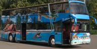 Заказ автобуса Одесса двухэтажный Setra - фото вид спереди