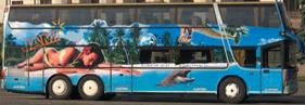 Заказ автобуса Одесса на 70 мест Setra - фото вид спереди