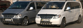 Заказ минивэна Одесса Mercedes VIANO VIP-класса - фото вид снаружи
